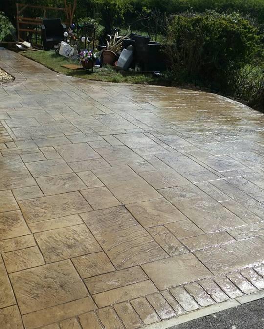 pattern imprinted concrete driveways redcar driveline